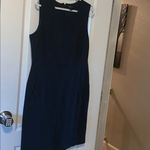 Lands End navy blue dress